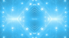 VJ Fractal blue kaleidoscopic background. - stock footage