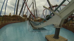 Roller Coaster Ride Stock Footage