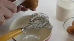 Egg yolk separator, slow motion, 4k Stock Footage