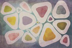 Colored Round Triangles Texture Kuvituskuvat