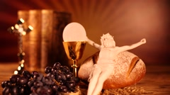 Holy communion, religion background Stock Footage