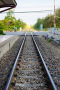 Vintage railroad train Stock Photos