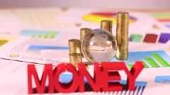 Finance concept, money, natural colorful tone - stock footage