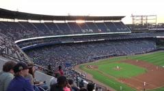 People watching Baseball at Turner Field Atlanta Stock Footage