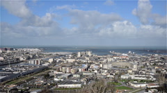 Cherbourg, France, Video  - Wide angle view of the city Stock Footage