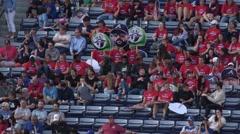 Fans watching a baseball match at Turner Field Atlanta - stock footage