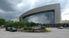 Performing Arts center in Atlanta - Filming location of The Walking Dead series Stock Footage