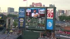 Info screen at Turner Field Atlanta - stock footage