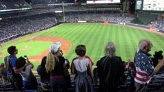 Enthusiastic fans enjoying Baseball Stock Footage