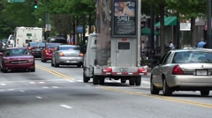 Atlanta midtown streetview on Peachtree St Stock Footage