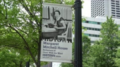Margaret Mitchell House in Atlanta midtown Stock Footage