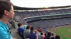 Baseball game at Turner Field Atlanta - stock footage
