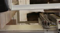 Milling machine in carpentry workshop in 4K UHD video. Stock Footage