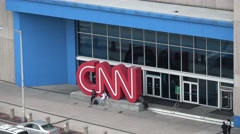 CNN Headquarter in Atlanta Stock Footage