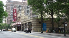 Atlanta midtown streetview with Fox Theater Stock Footage