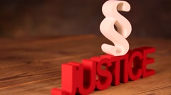 Justice concept and paragraph - stock footage