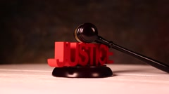 Justice concept Stock Footage