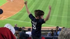 Young fans watching Baseball at Turner Field Atlanta - stock footage