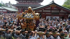 Sanja Festival in Asakusa Stock Footage