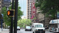 Famous Fox Theater in Atlanta midtown Stock Footage