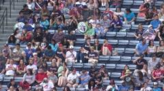 Fans watching a baseball game at Turner Field Atlanta - stock footage
