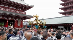 Sanja Festival in Asakusa - stock footage