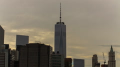 One World Trade Center, Downtown Manhattan, New York City, New York, USA Stock Footage