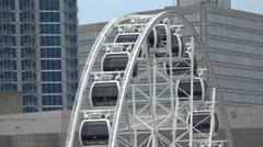 Atlanta Skyview Ferris Wheel at Centennial Olympic Park Stock Footage