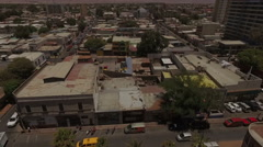 Small beautiful town in the middle of the desert in a sunny day - stock footage