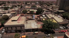 Small city in the middle of the desert - stock footage