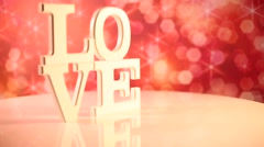 Love, Happy Valentines day Stock Footage