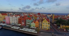 Aerial shot Willemstad Curacao  - stock footage