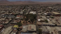 Town in the middle of the waterless desert - stock footage