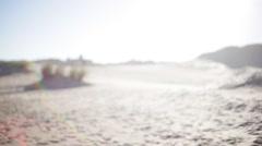 Sunny beach scene Stock Footage