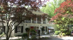 Famous Swan Coach House museum and restaurant in Atlanta Stock Footage