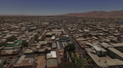 Gorgeous town in the middle of the desert Stock Footage