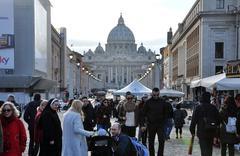Saint Peter basilica. Vatican city Stock Photos