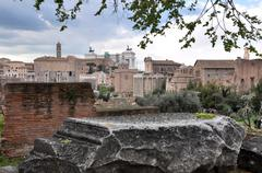 Archaeological excavations in the Roman Forum, Rome, Italy Stock Photos
