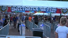 SweetWater Festival at Olympic Park Atlanta Stock Footage
