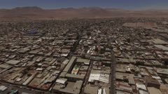 Amazing small town in the middle of the desert - stock footage