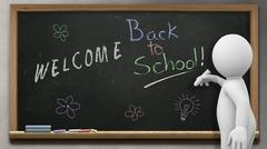 Welcome back to School 1 - stock illustration
