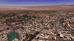 The small town in the middle of the desert - stock footage