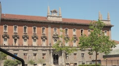 Monza, Italy. City Hall Stock Footage