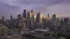 Toronto, Canada, Video  - The Downtown at Sunset Stock Footage