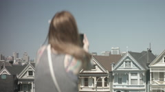 Painted Ladies - San Fransisco Stock Footage