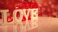Love sign, Happy Valentines day Stock Footage