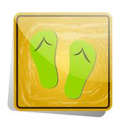 Icon-sign in Slippers are allowed - stock illustration