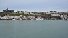 Granville, France, Video  - The Harbor Stock Footage