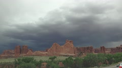 Lightening strikes, ARCHES NATIONAL PARK Stock Footage