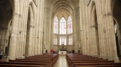 Basilica of St. Urbain, Troyes, France Stock Footage